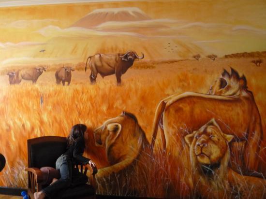 savane africaine dans salon